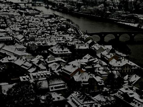 Alte Stadt kurz vor Neujahr